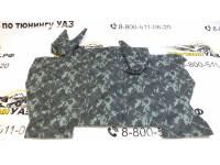 Коврик под рычаги УАЗ 452 омон (серый камуфляж) прострочка ромбом