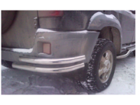 Уголок - защита заднего бампера УАЗ Патриот двойная труба